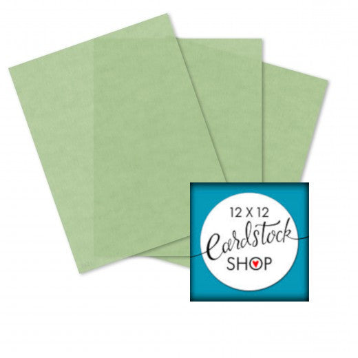 Glama Natural Pastel Green translucent vellum - 8½ x 11 sheets