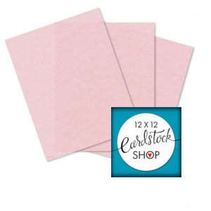 Pastel Pink translucent vellum from Glama Natural - 8½ x 11 sheets