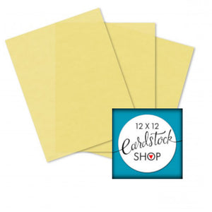 Pastel Yellow translucent vellum in 8.5 x 11 inch sheets - Glama Natural
