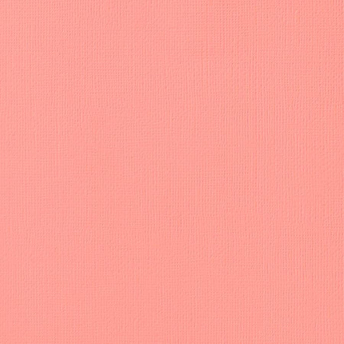 PEACH colored cardstock - 12x12 inch - 80 lb - textured scrapbook paper - American Crafts