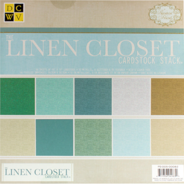 LINEN CLOSET SOLIDS - 48 sheet 12x12 cardstock stack - Die Cuts With a View