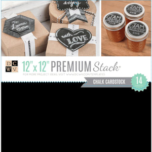 CHALKBOARD Cardstock - 14 sheet premium stack from Die Cuts With a View