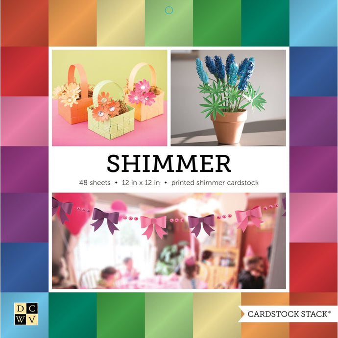 SHIMMER Cardstock Stack - 48 sheets - from DCWV