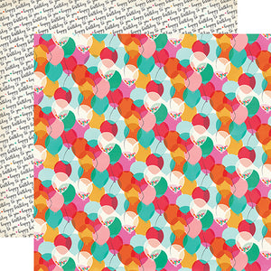 """One Year Older"" 12x12 double-sided designer cardstock is part of PARTY TIME collection kit by Echo Park Paper Co."