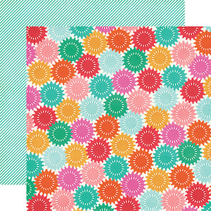"""Celebrate"" 12x12 double-sided designer cardstock is part of PARTY TIME collection kit by Echo Park Paper Co."