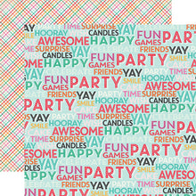 "Load image into Gallery viewer, ""Surprise Party"" 12x12 double-sided designer cardstock is part of PARTY TIME collection kit by Echo Park Paper Co."