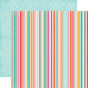 """Streamers"" 12x12 double-sided designer cardstock is part of PARTY TIME collection kit by Echo Park Paper Co."