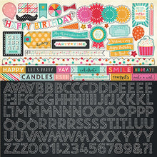 Load image into Gallery viewer, Alphabet stickers coordinate with PARTY TIME page collection kit by Echo Park Paper Co.
