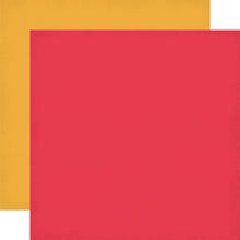"Load image into Gallery viewer, ""Red & Yellow"" 12x12 double-sided designer cardstock is part of PARTY TIME collection kit by Echo Park Paper Co."