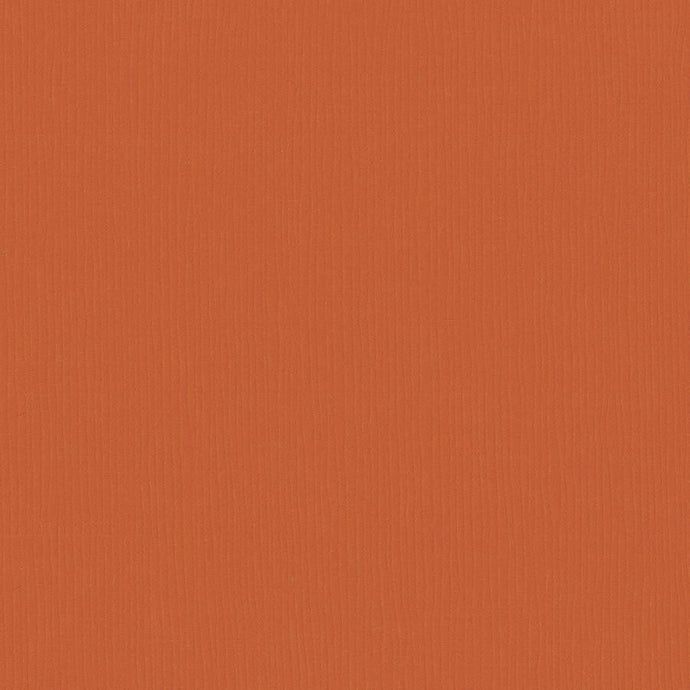 Bazzill Basics PUMPKIN PATCH orange cardstock - 12x12 inch - 80 lb - textured scrapbook paper