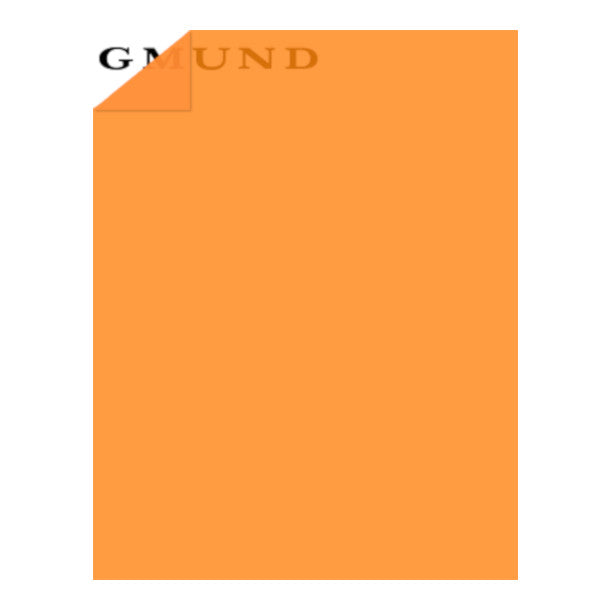 Pumpkin orange translucent vellum paper by Gmund - 8½ x 11 sheets - 30lb