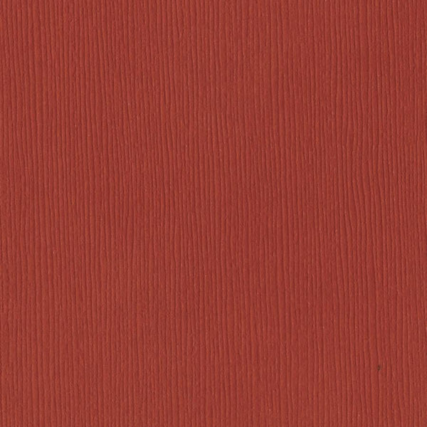 Bazzill Basics RED ROCK red cardstock - 12x12 inch - 80 lb - textured scrapbook paper