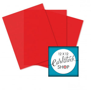 Glama Natural RED translucent vellum - 8½ x 11 sheets