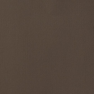 ROCKY ROAD brown cardstock - 12x12 inch - 80 lb - textured scrapbook paper - American Crafts
