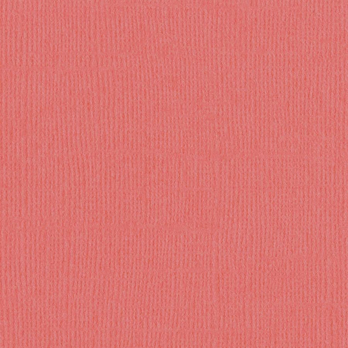 Bazzill Basics ROSELLE orange-pink cardstock - 12x12 inch - 80 lb - textured scrapbook paper