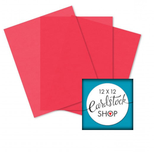 ROSE colored translucent vellum - 8½ x 11 sheets