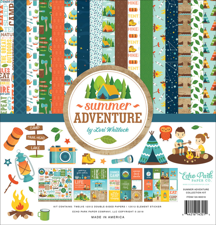 Summer Adventure - 12x12 collection kit from Echo Park Paper