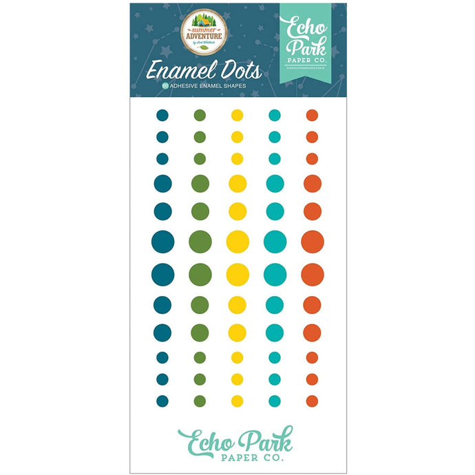 60 enamel dots in five bright summertime colors from Echo Park Paper Co.