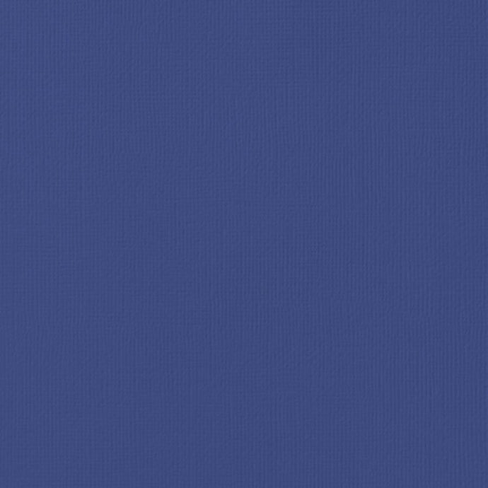 SAPPHIRE blue cardstock - 12x12 inch - 80 lb - textured scrapbook paper - American Crafts