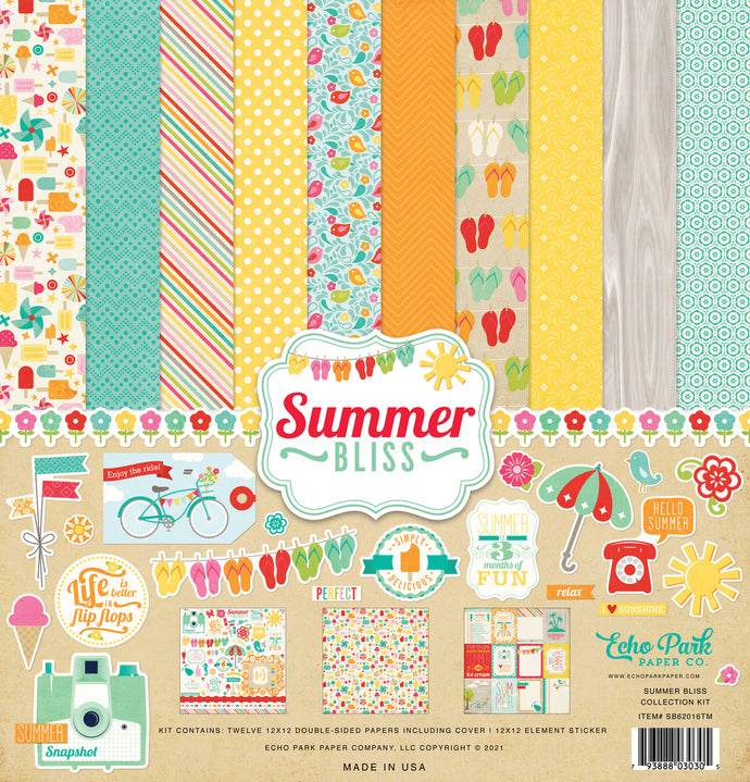 Summer Bliss - 12x12 collection kit with summer theme by Echo Park Paper