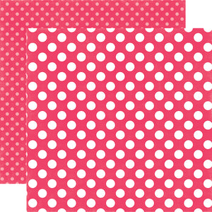 Melon Kiss Dot 12x12 Cardstock from Echo Park Paper Co.
