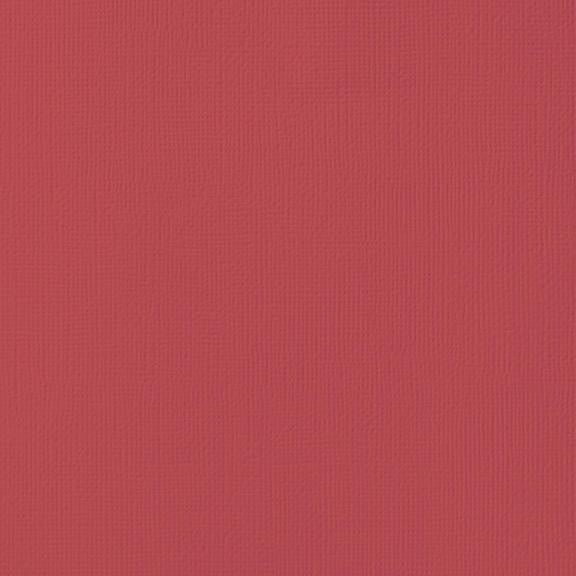 SCARLET red cardstock - 12x12 inch - 80 lb - textured scrapbook paper - American Crafts