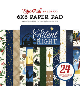 Silent Night - 6x6 paper pad with 24 double-sided sheets - Echo Park Paper