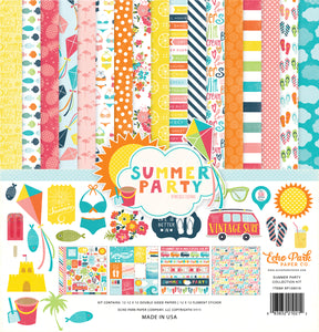 Summer Party 12x12 collection kit from Echo Park Paper