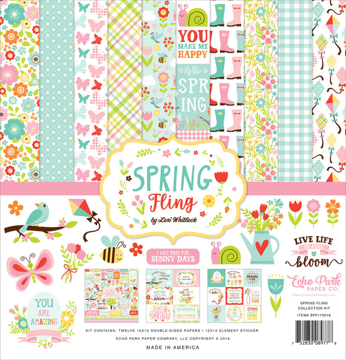 SPRING FLING 12x12 Collection Kit from Echo Park Paper Co.
