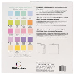 SPRING VARIETY PACK_60 sheets_textured cardstock_20 colors__American Crafts_376993_reverse
