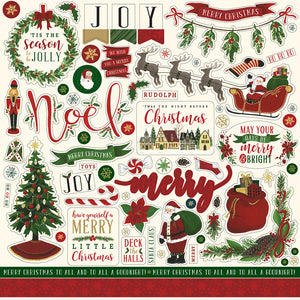 12x12 Element Sticker for NIGHT BEFORE CHRISTMAS  Vol. 1 Collection Kit by Echo Park Paper Co.