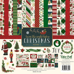 'TWAS THE NIGHT BEFORE CHRISTMAS Vol. 1 - 12x12 Cardstock Collection Kit by Echo Park Paper Co.