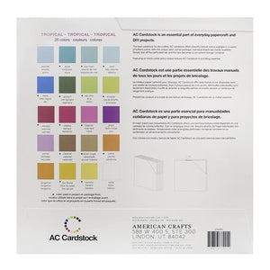 TROPICAL VARIETY PACK_60 sheets_textured cardstock_20 colors__American Crafts_376991_reverse