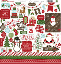 Load image into Gallery viewer, 12x12 sheet of Element Stickers from The Story of Christmas Collection Kit by Echo Park Paper Co.