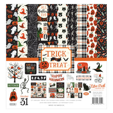 Load image into Gallery viewer, Trick or Treat Collection Kit by Echo Park Paper includes 12 unique sheets of double-sided paper with Halloween themes