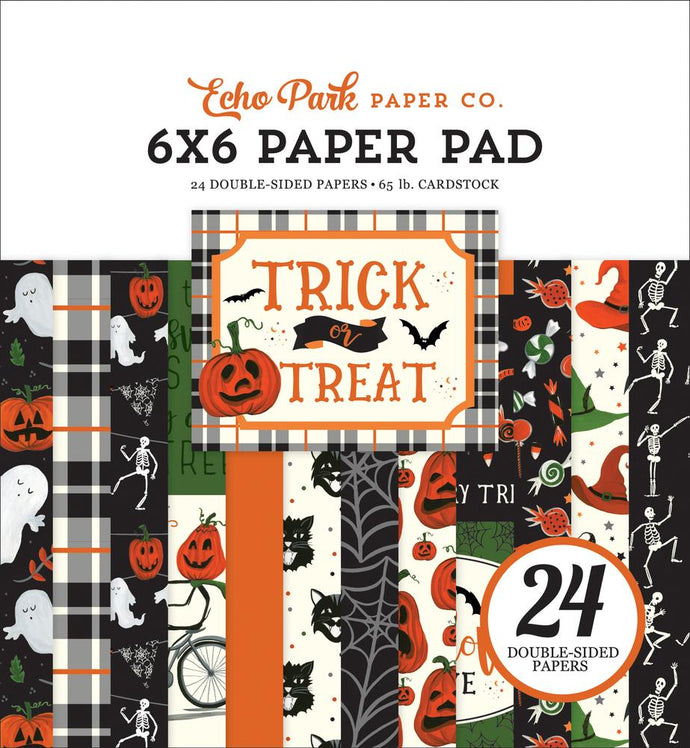 Trick or Treat 6x6 Pad coordinates with Echo Park collection kit