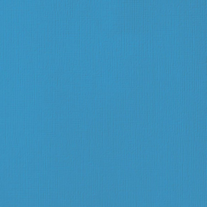 WAVE blue cardstock - 12x12 inch - 80 lb - textured scrapbook paper - American Crafts