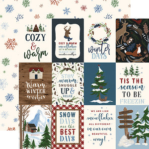3x4 Journaling Cards - double-sided 12x12 cardstock from Warm & Cozy Collection by Echo Park Paper Co.