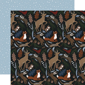 Cozy Animals - double-sided 12x12 cardstock from Warm & Cozy Collection by Echo Park Paper Co.