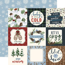 Load image into Gallery viewer, 4x4 Journaling Cards - double-sided 12x12 cardstock from Warm & Cozy Collection by Echo Park Paper Co.