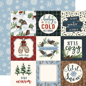 4x4 Journaling Cards - double-sided 12x12 cardstock from Warm & Cozy Collection by Echo Park Paper Co.