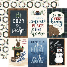 Load image into Gallery viewer, 4x6 Journaling Cards - double-sided 12x12 cardstock from Warm & Cozy Collection by Echo Park Paper Co.