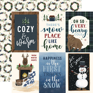 4x6 Journaling Cards - double-sided 12x12 cardstock from Warm & Cozy Collection by Echo Park Paper Co.