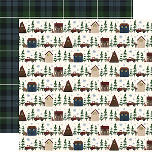Cabin Village - double-sided 12x12 cardstock from Warm & Cozy Collection by Echo Park Paper Co.