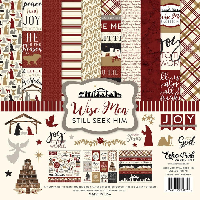 WISE MEN STILL SEEK HIM 12x12 cardstock collection kit with Christ-centered Christmas theme