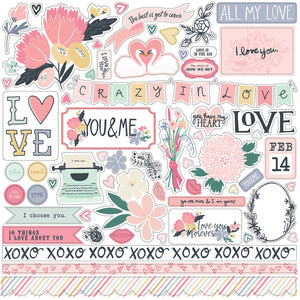 12x12 Element Sticker Sheet from YOU & ME Collection Kit by Echo Park Paper Co.
