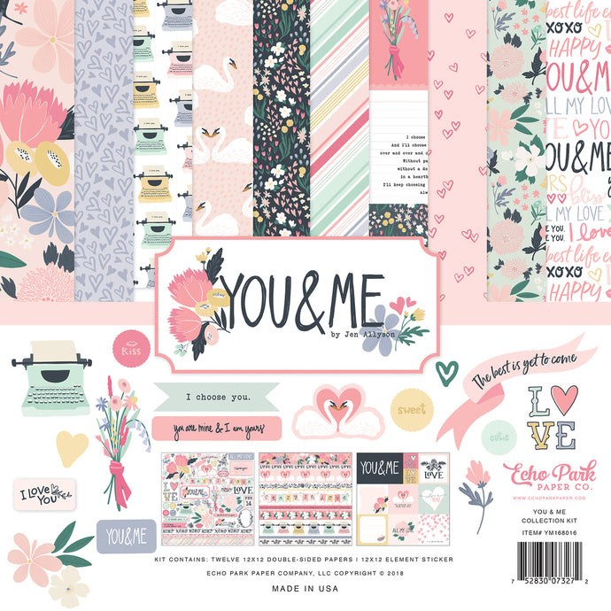 YOU & ME 12x12 Collection Kit from Echo Park Paper Co.