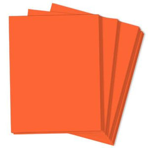ORBIT ORANGE Astrobrights 8.5 x 11 cardstock from Neenah Paper Co.
