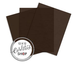 CHOCOLATE translucent vellum sheets - 8.5x11 - by Curious Translucents