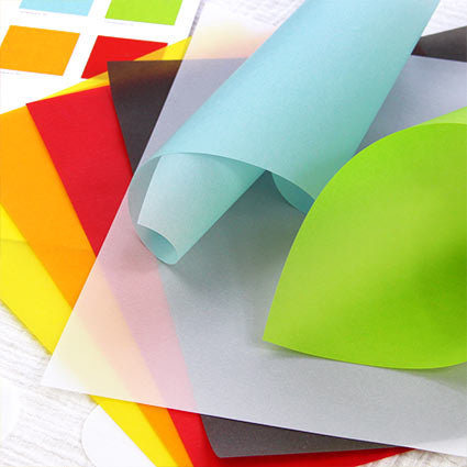 Sampler Pack of Translucent Vellum  in 16 different colors - one sheet for each color